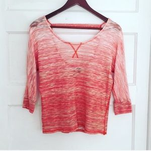 Coral Ombré Open Back Sweater